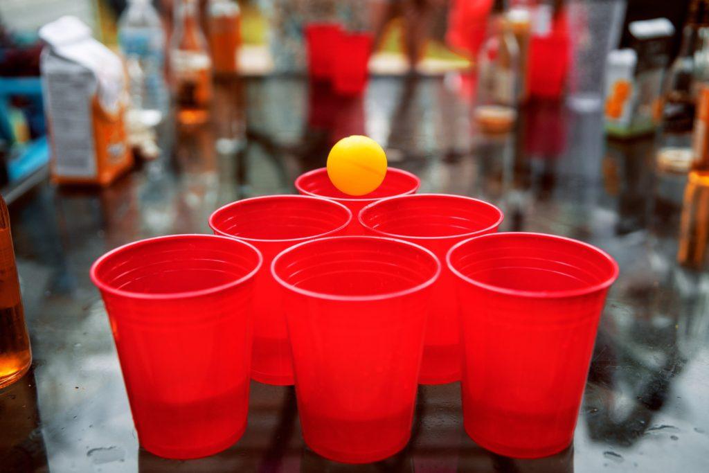 Trinkspiele Beer Pong